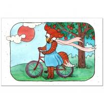 Biking fox