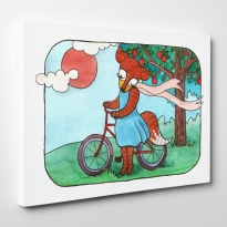 Biking fox