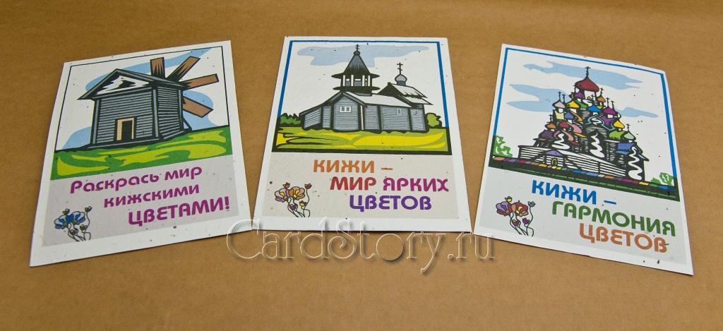 Кижские цветы (набор открыток)
