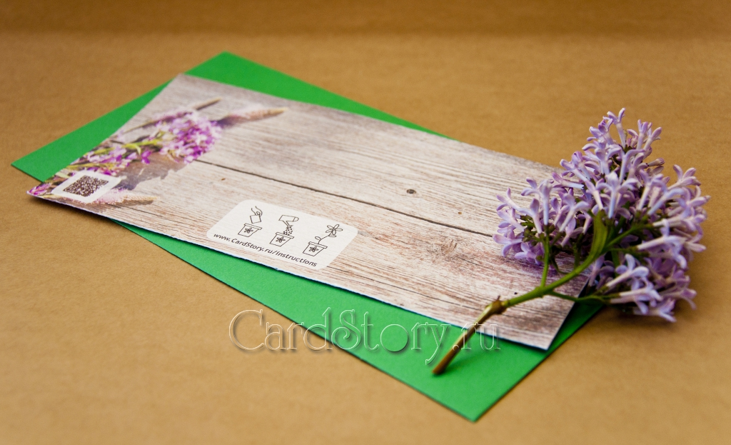 """Свадебные приглашения """"Сиреневые цветы"""""""