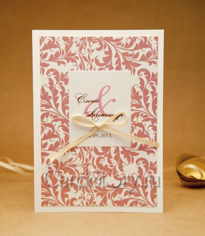 """Открывающаяся свадебная открытка """"Марбелья"""""""