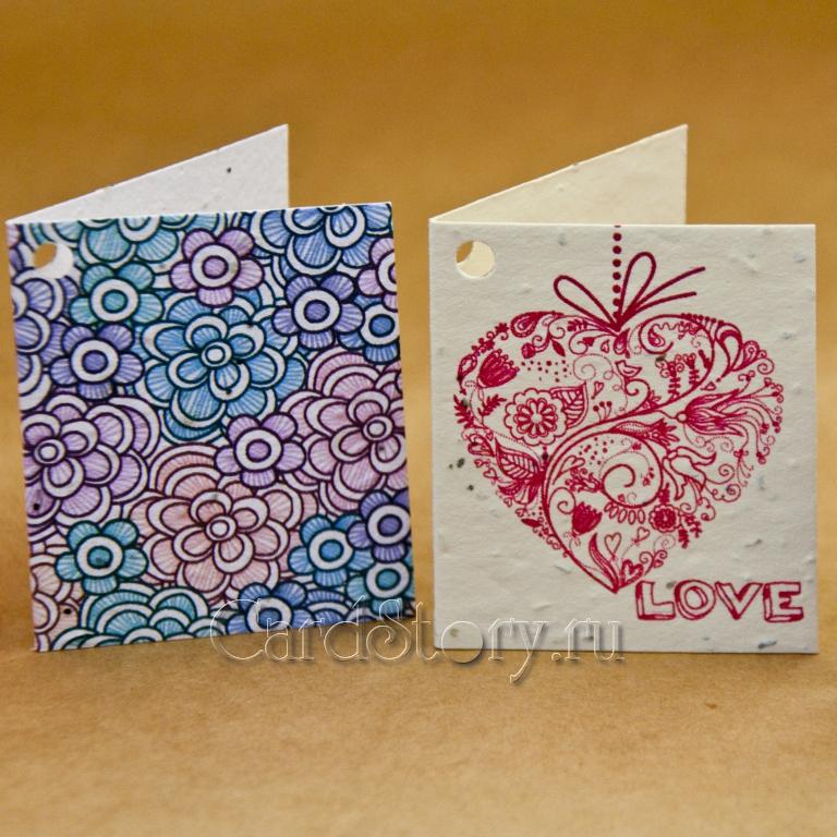 Картинки, маленькие открытки для цветов
