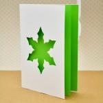 Снежинка зеленая