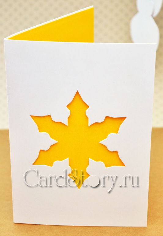 Снежинка желтая