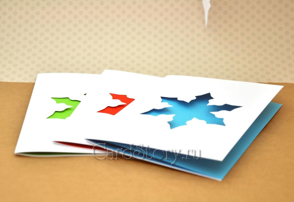 Снежинки (набор открыток)