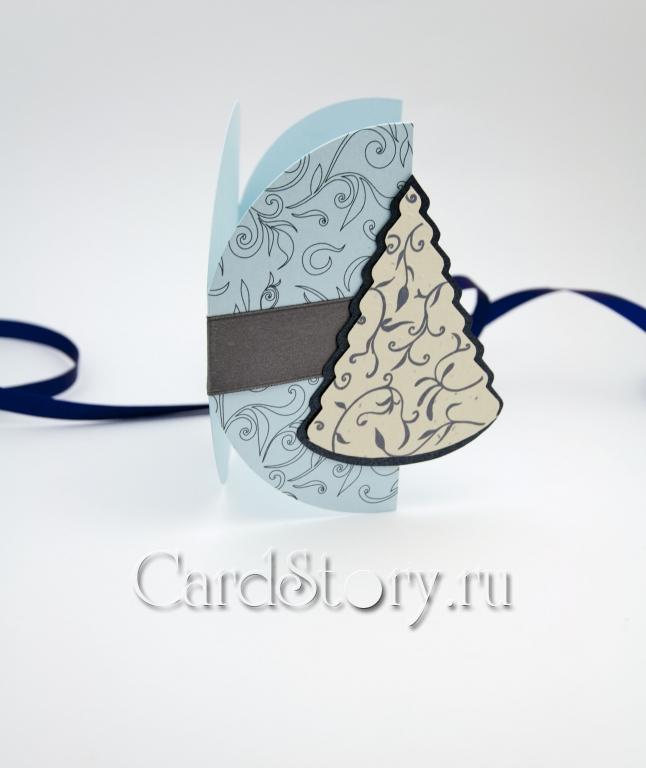 Зимний этюд (голубой)