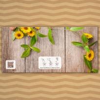 """Приглашения на свадьбу """"Желтые цветы"""""""